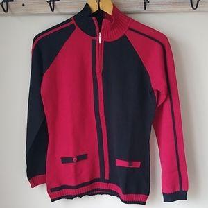 NILS half zip colorblock sweater